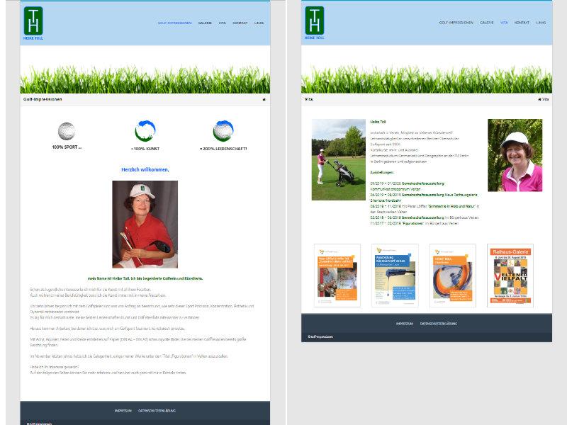 Website Golf-Impressionen